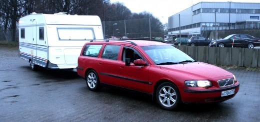 Wohnwagen Cabby C55 mit Volvo V70