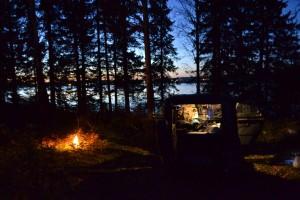 Abenteuercamping am Seeufer